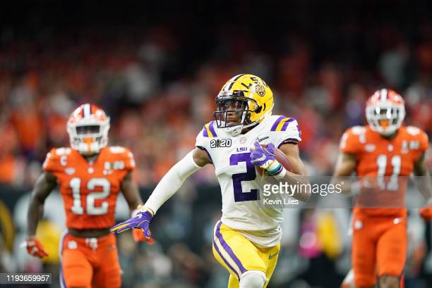 CFP National Championship LSU Justin Jefferson in action vs Clemson at Mercedes Benz Superdome New Orleans LA CREDIT Kevin D Liles