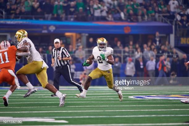 CFP National Semifinal Notre Dame Dexter Williams in action rushing vs Clemson Tanner Muse at ATT Stadium Arlington TX CREDIT Greg Nelson