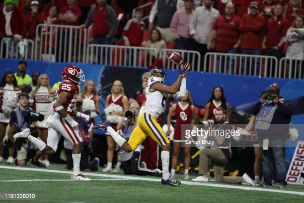 CFP National Semifinals LSU Justin Jefferson in action making catching vs Oklahoma at MercedesBenz Stadium Atlanta GA CREDIT Simon Bruty