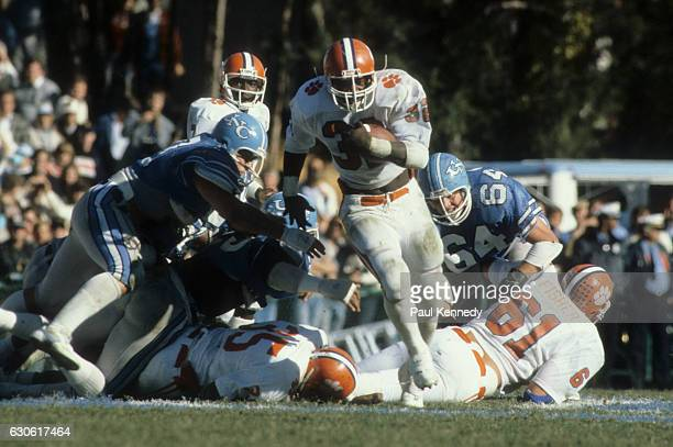 Clemson Jeff McCall in action rushing vs North Carolina at Kenan Memorial Stadium Chapel Hill NC CREDIT Paul Kennedy