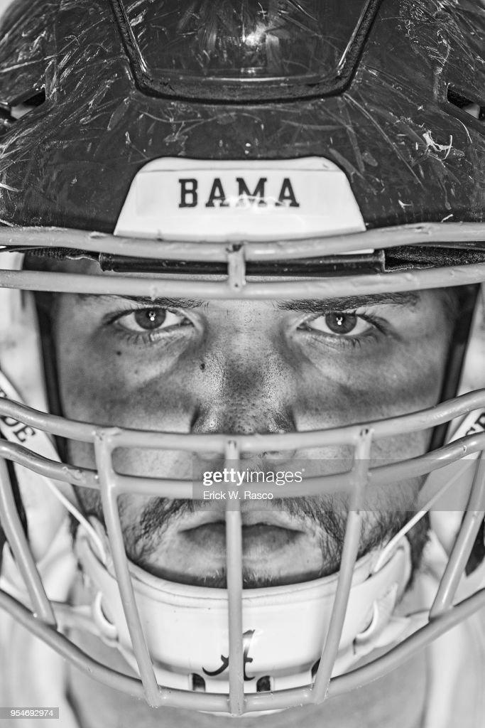 Closeup Portrait Of Alabama Jonah Williams Before Crimson Vs White