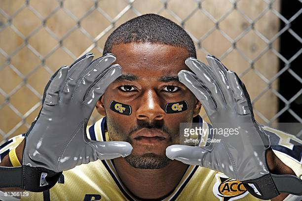 College Football Closeup portrait of Georgia Tech wide receiver Calvin Johnson Atlanta GA