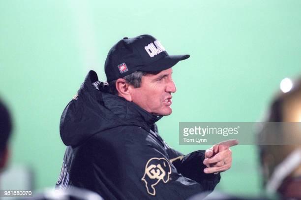 Colorado coach Bill McCartney during game vs during game vs Oklahoma at Folsom Field Boulder CO CREDIT Tom Lynn