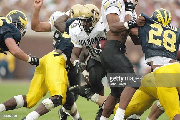 Colorado Rashaan Salaam in action rushing vs Michigan Ann Arbor MI 9/24/1994 CREDIT John Biever