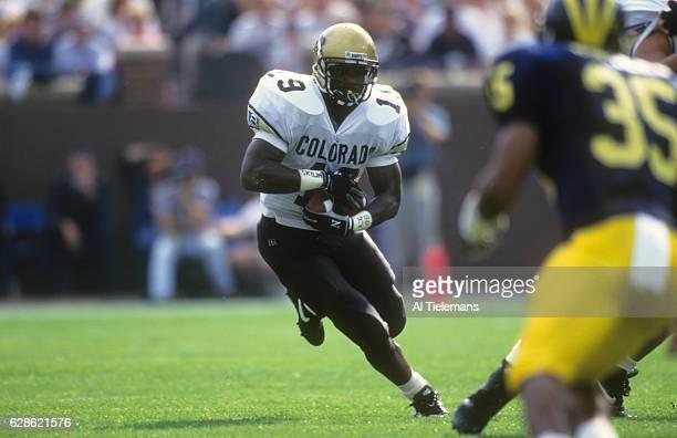 Colorado Rashaan Salaam in action rushing vs Michigan at Michigan Stadium Ann Arbor MI CREDIT Al Tielemans