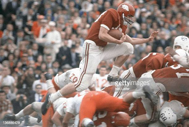 College Football Cotton Bowl Arkansas Bobby Burnett in action vs Nebraska at Cotton Bowl Stadium Dallas TX 1/1/1965 CREDIT Neil Leifer