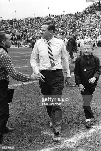 College Football Cotton Bowl Arkansas coach Frank Broyles during game vs Nebraska Dallas TX 1/1/1965