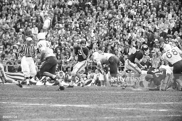 Cotton Bowl Arkansas QB Fred Marshall in action vs Nebraska Dallas TX 1/1/1965 CREDIT Herb Scharfman