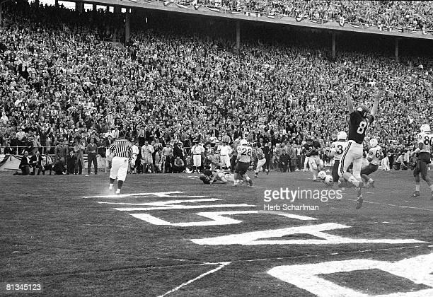 College Football Cotton Bowl Arknasas Bobby Burnett in action scoring game winning touchdown Nebraska Dallas TX 1/1/1965