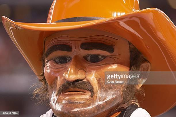 Cowboys Classic Closeup of Oklahoma State Cowboys mascot Pistol Pete during game vs Florida State at ATT Stadium Arlington TX CREDIT Greg Nelson