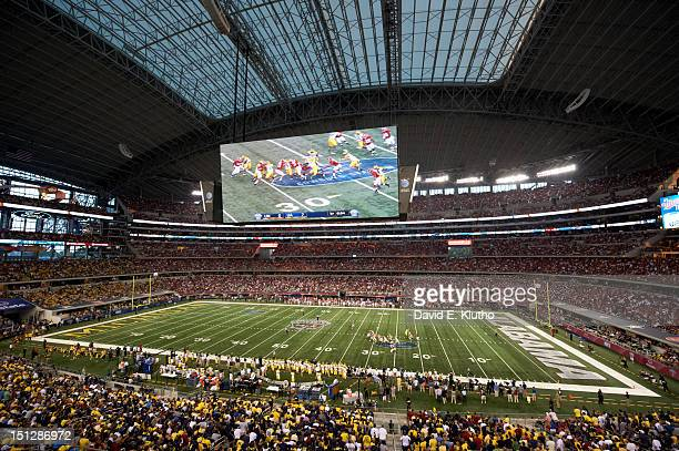 Cowboys Classic Overall view of HD video screen during during second drive by Michigan vs Alabama Cowboys Stadium Arlington TX CREDIT David E Klutho