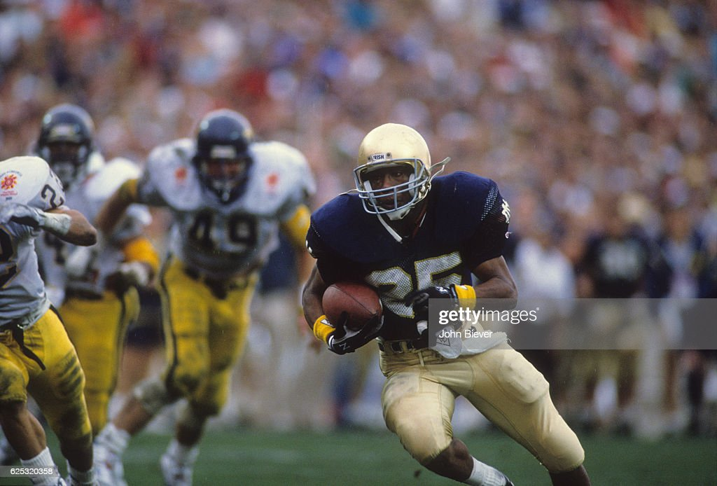 Notre Dame Raghib Ismail in action during tocuhdown ...
