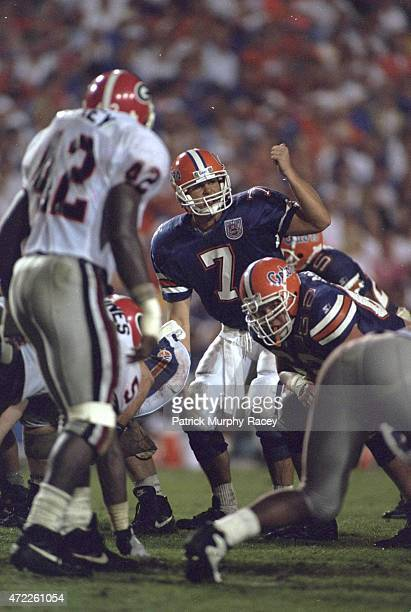 Florida QB Danny Wuerffel calling signals during game vs Georgia at Ben Hill Griffin Stadium Gainesville FL CREDIT Patrick MurphyRacey