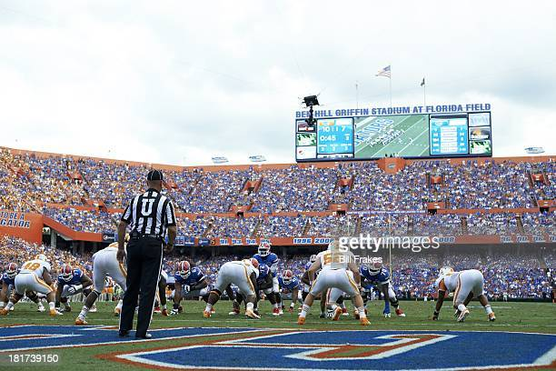Florida QB Tyler Murphy calling signals during game vs Tennessee at Ben Hill Griffin Stadium. Gainesville, FL 9/21/2013 CREDIT: Bill Frakes