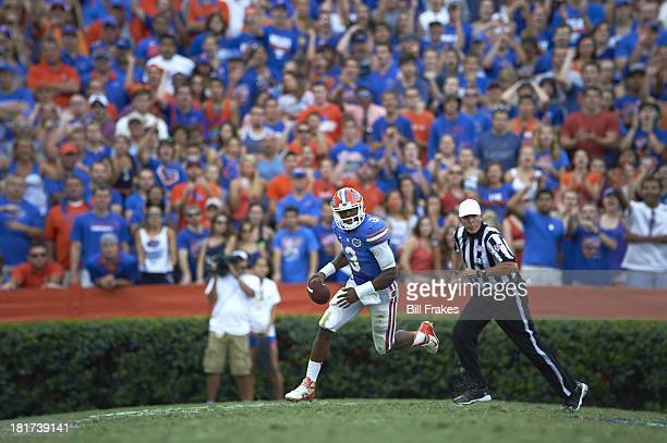 Florida QB Tyler Murphy in action vs Tennessee at Ben Hill Griffin Stadium. Gainesville, FL 9/21/2013 CREDIT: Bill Frakes
