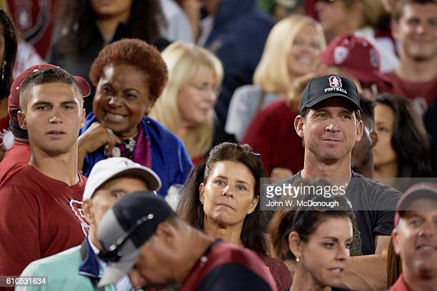 Former NFL wide receiver Ed McCaffrey father of Stanford Christian in stands during game vs USC at Stanford Stadium Stanford CA CREDIT John W...