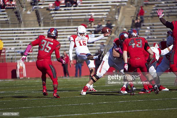 Houston Richie Leone in action punt vs Rutgers at High Point Solutions Stadium Piscataway NJ CREDIT Guillermo Hernandez Martinez