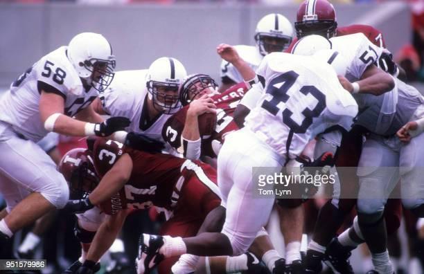 Indiana Alex Smith in actiion pileup vs Penn State Phil YeboahKodie at Memorial Stadium Bloomington IN CREDIT Tom Lynn