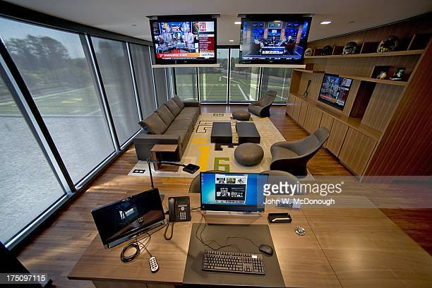 Interior view of office of head coach Mark Helfrich at new Football Performance Center in HatfieldDowlin Complex on UO campus The 145000squarefoot...
