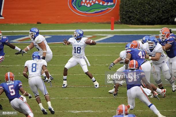 Kentucky QB Randall Cobb in action vs Florida Gainesville FL CREDIT Gary Bogdon