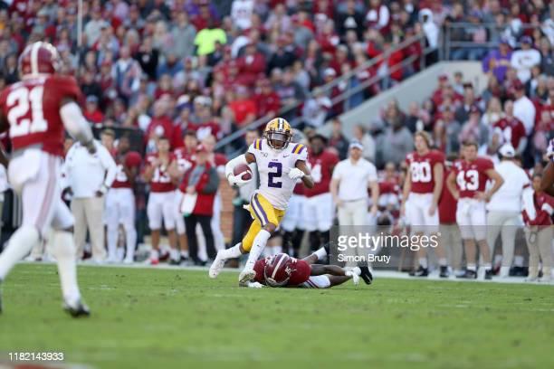 LSU Justin Jefferson in action vs Alabama at BryantDenny Stadium Tuscaloosa AL CREDIT Simon Bruty