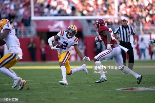 LSU Justin Jefferson in action vs Alabama at BryantDenny Stadium Tuscaloosa AL CREDIT Kevin D Liles