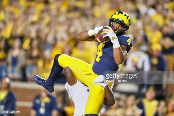 Michigan Nico Collins in action making catch vs Middle Tennessee State at Michigan Stadium Ann Arbor MI CREDIT David E Klutho