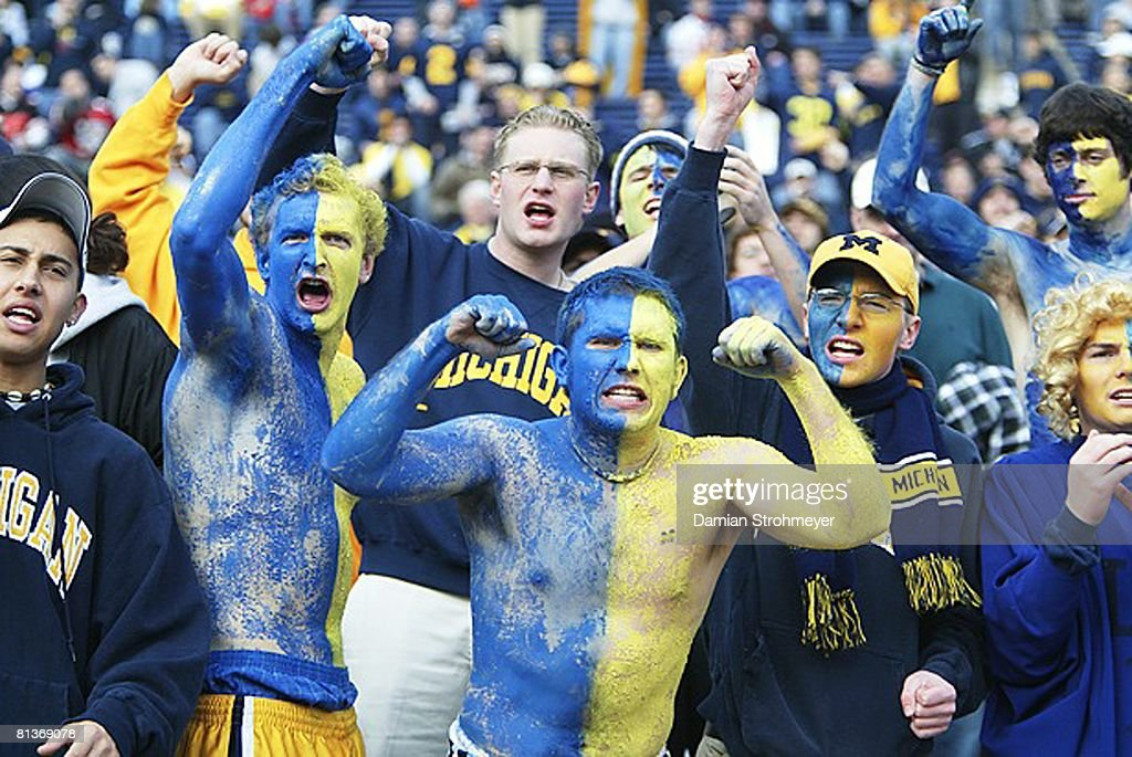 Michigan painted fans in stands during game vs Ohio State ...