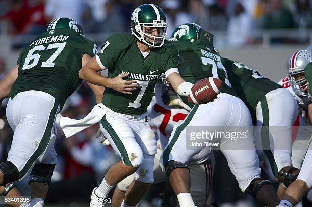 Michigan State QB Brian Hoyer in action vs Ohio State East Lansing MI CREDIT John Biever