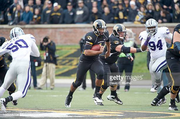 Missouri QB James Franklin in action vs Kansas State at Memorial Stadium Columbia MO CREDIT David E Klutho