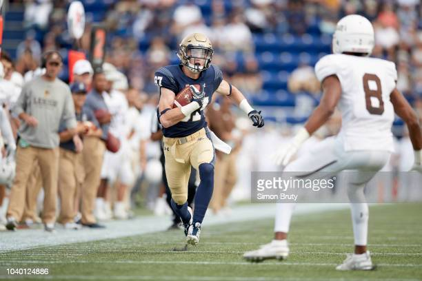 Navy Ryan Mitchell in action vs Lehigh at NavyMarine Corps Memorial Stadium Annapolis MD CREDIT Simon Bruty