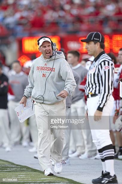 Nebraska coach Bo Pelini on sidelines during game vs Texas Tech. Lincoln, NE CREDIT: Greg Nelson