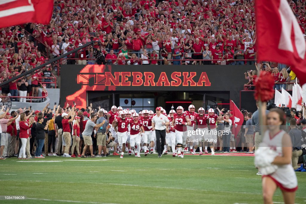 University of Nebraska vs University of Akron : News Photo
