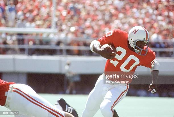 Nebraska Johnny Rodgers in action vs Oregon at Memorial StadiumLincoln NE 9/11/1971CREDIT Heinz Kluetmeier