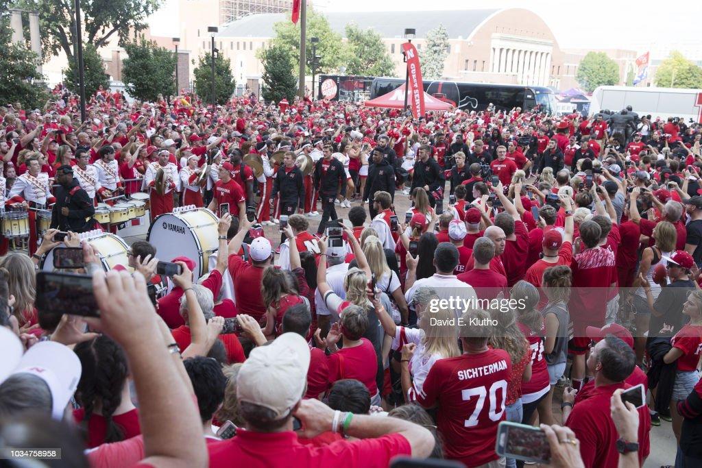 University of Nebraska vs University of Akron : News Photo