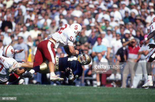 Notre Dame Lee Becton in action rushing vs Stanford Toby Norwood at Notre Dame Stadium South Bend IN CREDIT Tom Lynn