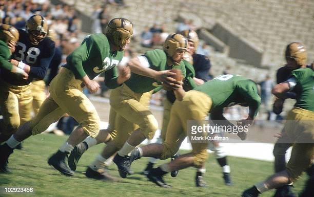 Notre Dame QB Paul Hornung in action during spring football game at Notre Dame Stadium South Bend IN 5/21/1954 CREDIT Mark Kauffman 017040957