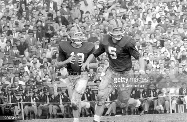 Notre Dame QB Paul Hornung in action vs Michigan State South Bend IN CREDIT John G Zimmerman 079007330