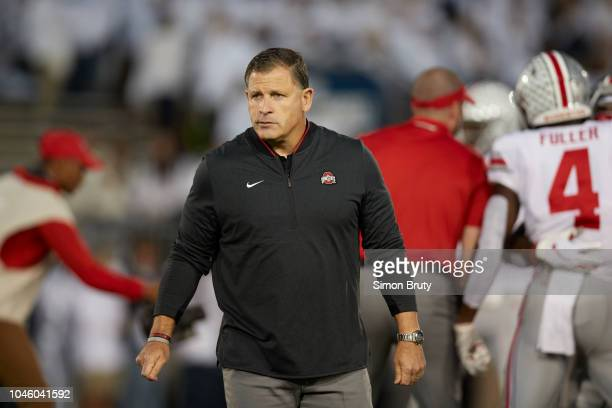 Ohio State Associate head coach and defensive coordinator Greg Schaino on the sidelines vs Penn State at Beaver Stadium State College PA CREDIT Simon...