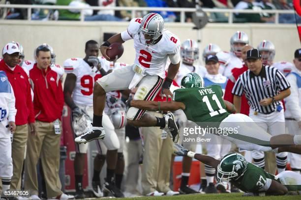 Ohio State QB Terrelle Pryor in action rushing vs Michigan State Marcus Hyde East Lansing MI CREDIT John Biever
