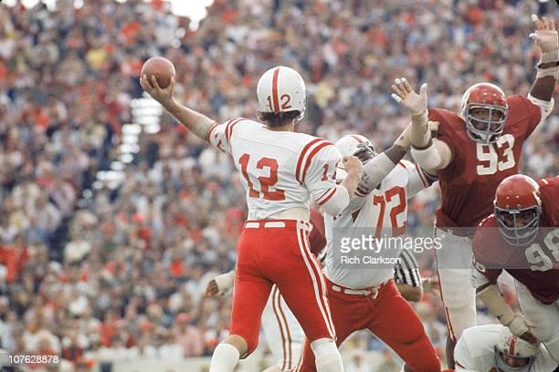 Oklahoma Lee Roy Selmon in action defense vs Nebraska at Gaylord Family Memorial StadiumNorman OK CREDIT Rich Clarkson
