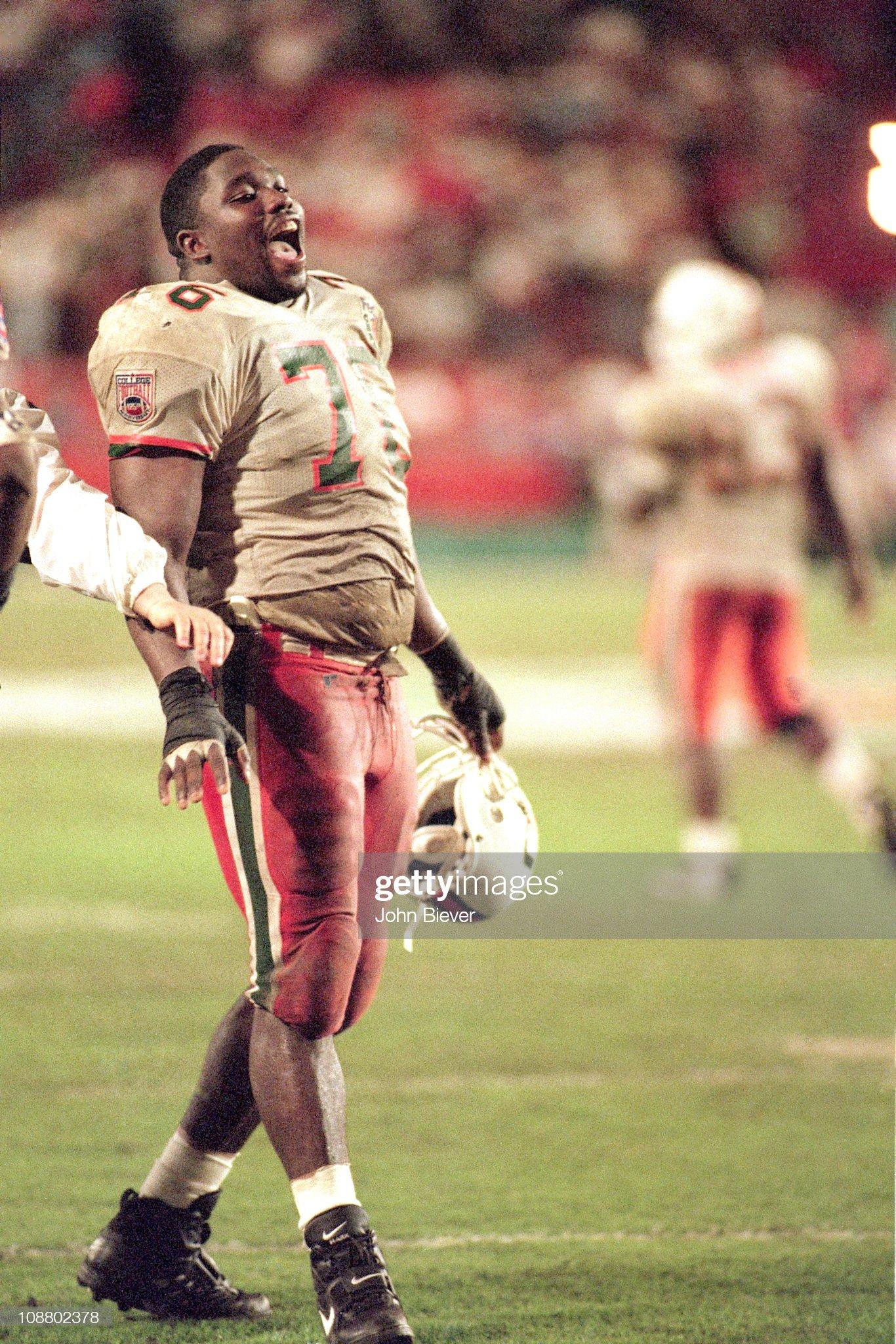 University of Miami vs University of Nebraska, 1995 FedEx Orange Bowl : News Photo