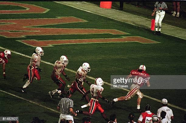 College Football: Orange Bowl, Nebraska Cory Schlesinger in action, scoring TD vs Miami, Miami, FL 1/1/1995
