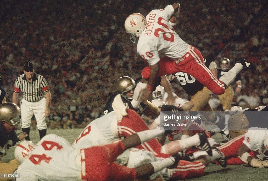 University of Nebraska Johnny Rodgers, 1973 Orange Bowl : News Photo