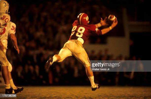 Orange Bowl Rear view of Alabama Ray Perkins in action making catch vs Nebraska at Orange Bowl Stadium Miami FL CREDIT Walter Iooss Jr
