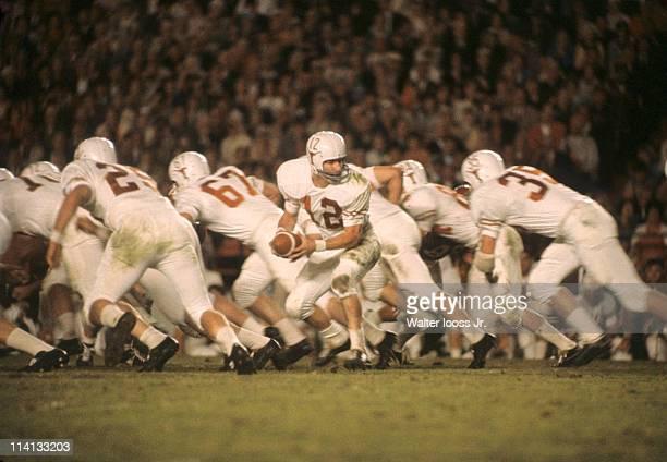 Orange Bowl Texas QB Marv Kristynik in action vs Alabama at Orange Bowl Stadium Miami FL CREDIT Walter Iooss Jr