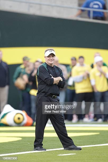 Oregon coach Chip Kelly during game vs UCLA. Eugene, OR CREDIT: Peter Read Miller