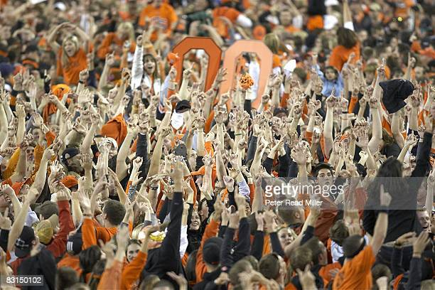 Oregon State fans victorious in stands after upset win over USC Corvallis OR 9/25/2008 CREDIT Peter Read Miller