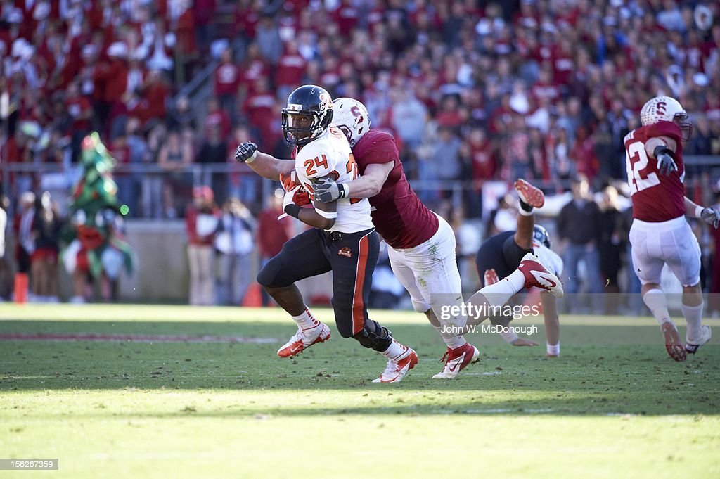 Oregon State Storm Woods (24) in action vs Stanford at Stanford Stadium. John W. McDonough F522 )