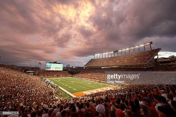 Overall view of Darrell K RoyalTexas Memorial Stadium during Texas vs Notre Dame game Scenic Austin TX CREDIT Greg Nelson